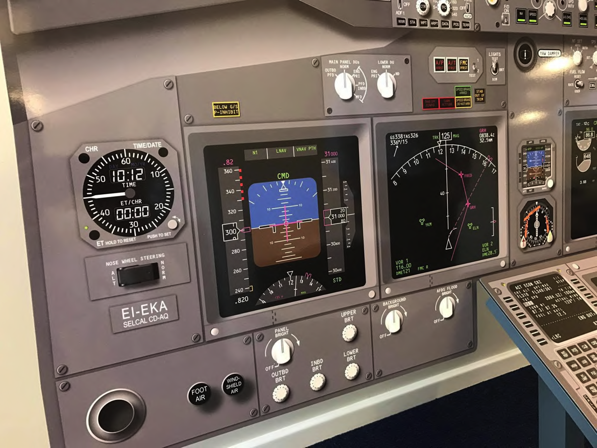 Cockpit Procedure Trainer Main Instrument Panel Close-up